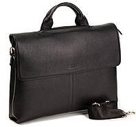 Мужской портфель сумка из мягкой кожи Eminsa 7042-37-1 черный