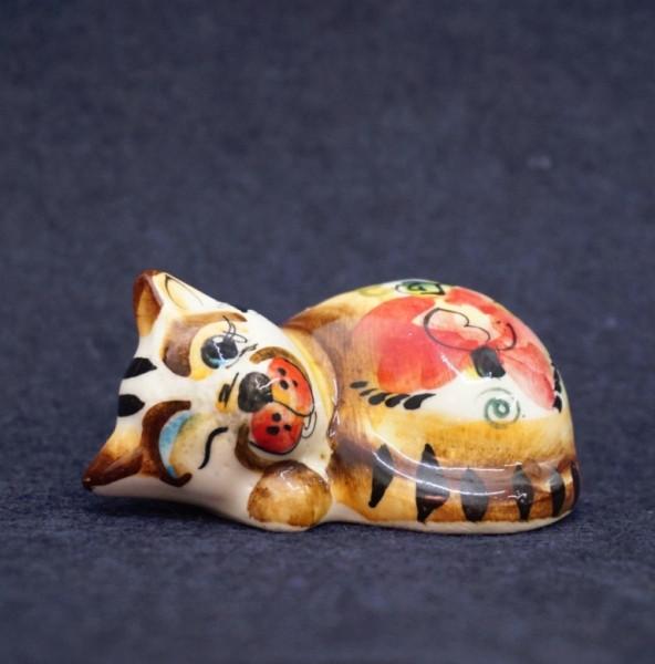 9380356 Фигурка керамическая Соня кіт (колір)