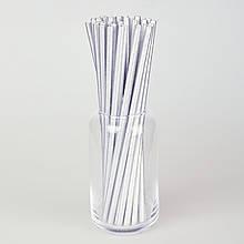 Бумажные трубочки 200 мм (25 шт.) серебро