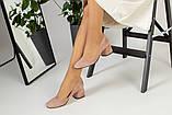 Жіночі замшеві туфлі колір пудра, фото 5