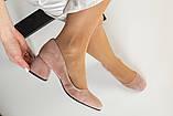 Жіночі замшеві туфлі колір пудра, фото 6