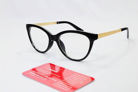 Жіноча чорна оправа для окулярів у формі КІШКА, фото 2