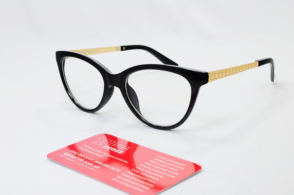 Жіноча чорна оправа для окулярів у формі КІШКА