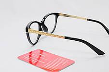 Жіноча чорна оправа для окулярів у формі КІШКА, фото 3