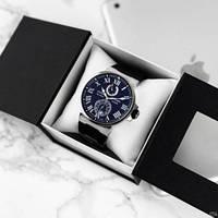 Часы наручные механика класса ААА Ulysse Nardin Maxi Marine AAA Silver-Black