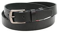 Мужской кожаный ремень под брюки Skipper 1303-33 черный, фото 1