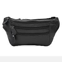 Мужская кожаная сумка Borsa Leather K102-black