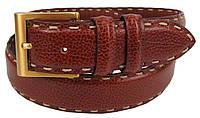 Жіночий шкіряний ремінь Ermenegildo Zegna, Італія, коричневий SFA760, фото 1