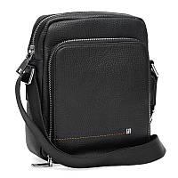 Мужская кожаная сумка Ricco Grande K16207-black
