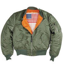 Куртка пилот MA-1 Blood Chit Olive