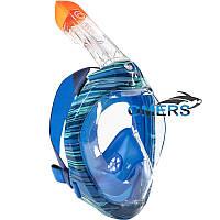 Маска полнолицевая SUBEA Easybreath 500 Oyster Blue для снорклинга, камуфляж