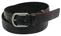 Мужской кожаный ремень под брюки Skipper 1028-33 черный 3,3 см, фото 1