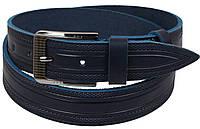 Чоловічий шкіряний ремінь під джинси Skipper 1115-40 синій ДхШ: 127х3,8 див., фото 1