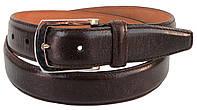 Женский кожаный ремень Ermenegildo Zegna, Италия, коричневый SFA747, фото 1