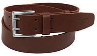 Мужской кожаный ремень под джинсы Skipper 1175-45 коричневый 4,5 см, фото 1
