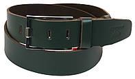 Чоловічий шкіряний ремінь під джинси Skipper 1193-45 зелений ДхШ: 132х4,5 див., фото 1
