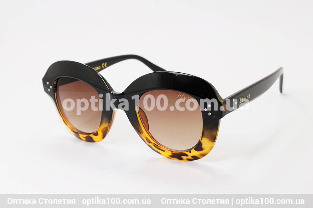 Солнцезащитные очки в стиле CELINE коричневые