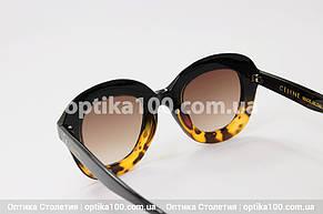 Солнцезащитные очки в стиле CELINE коричневые, фото 2