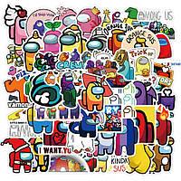 Стикеры Among Us - 50 шт Амонг Ас Стикербомбинг, виниловые наклейки для: велосипеда, скейта, сноуборда, ноутбу