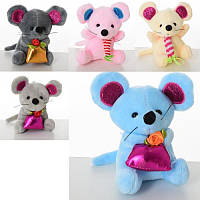 Мягкая игрушка MK 3893 мышь (мягкая),  присоски,  10см,  5видов