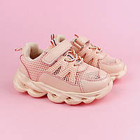 Детские кроссовки для девочек с LED подсветкой розовые тм Tomm размер 21,22,23,24