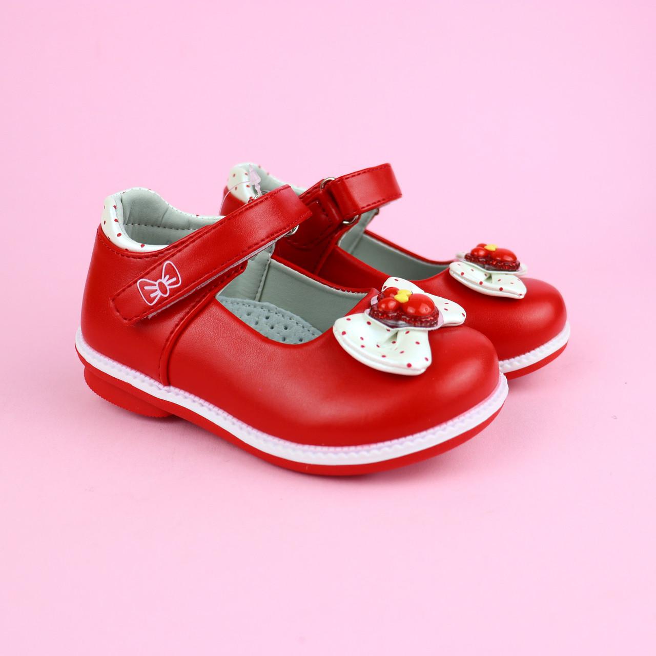 Червоні туфлі для дівчинки Тому.м розмір 21,23,25