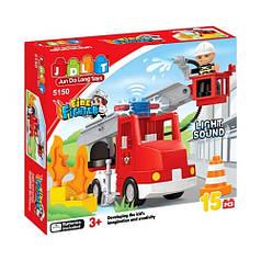 """Конструктор JDLT """"Пожежні рятувальники"""" 5150, 15 деталей"""