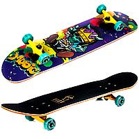 Деревянный cкейтборд Fish 3108 трюковый с канадского клена в 9 слоев King