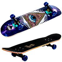 Деревянный трюковый скейтборд Fish 3108 с канадского клена в 9 слоев  eye