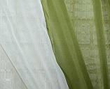 Кухонний комплект 280х170см, шторки с підв'язками. Колір хакі з бежевим. № 038к. 50-349, фото 8