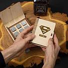"""Камни для виски """"Супермен"""" персонализированные 6 штук в подарочной коробке, фото 3"""