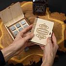 """Камни для виски """"Лучший начальник в мире"""" 6 штук в подарочной коробке, фото 2"""