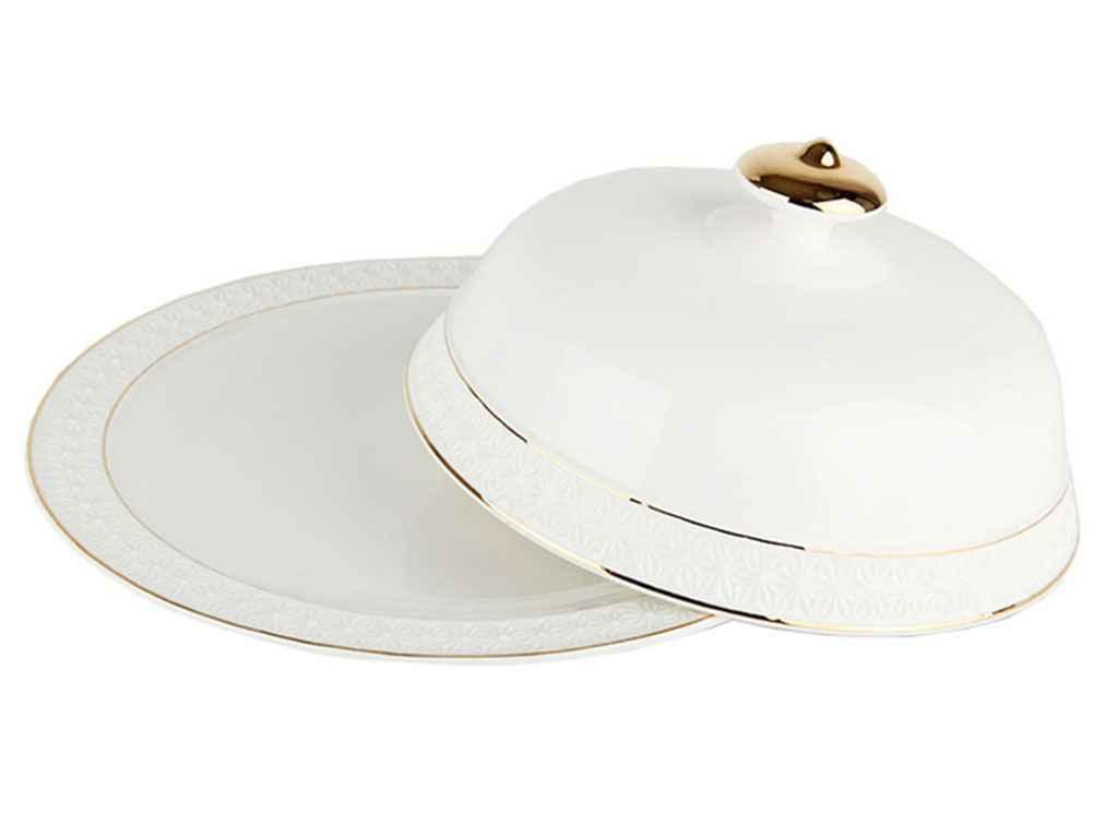 Блюдо з/кр. для млинців фарф. біле 25,4 см 609726-А ТМ KORALL