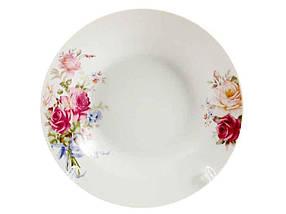 Тарелка суповая Interos Розовая роза 200 мм упаковка 12 шт (9037)