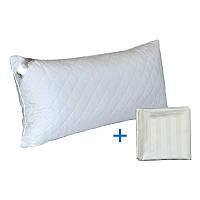 Силиконовая подушка Spanish Style 40х80 см с сатиновой наволочкой, Белая, ТМ Руно