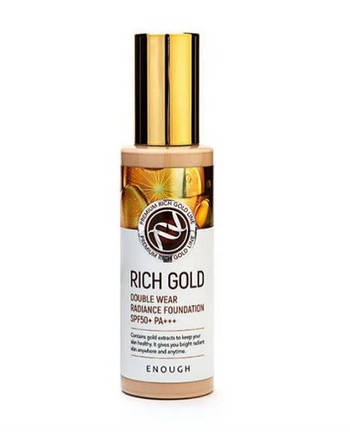 Тональная основа с золотом Enough Rich Gold Double Wear Radiance Foundation SPF50+ PA+++  21 (8809605871945)