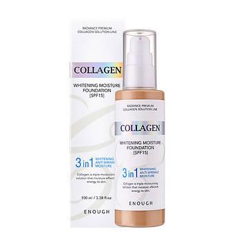 Тональный крем с коллагеном 3 в 1 Enough Collagen Whitening Moisture Foundation SPF15 13 (8809474497062)