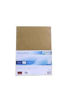 Набор конвертов UNITED OFFICE В 4 10 шт Коричневый K01-110247