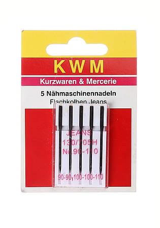 Набор игл для швейной машины KWM 5 шт Металик (K02-110022)