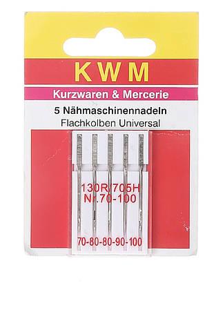 Набор иголок для швейной машины KWM 5 шт металлик (K02-110027)