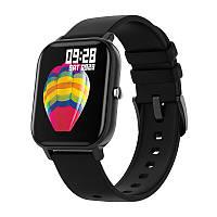 Смарт-часы Colmi P8 Black для измерения пульса Bluetooth умные часы