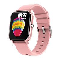 Смарт-часы Colmi P8 Pink для измерения пульса Bluetooth умные часы
