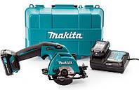 Аккумуляторная дисковая пила Makita HS301DWAE + 10.8 V 2 Ah + з/у + кейс