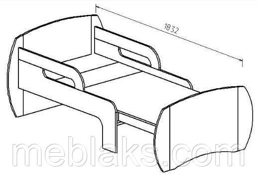 Детская односпальная кровать ДК 30, фото 2