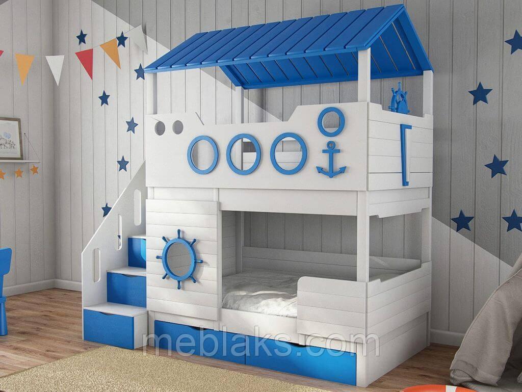 """Детская кровать для двоих """"Домик моряка"""" ДКД 50"""