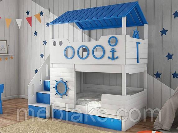 """Детская кровать для двоих """"Домик моряка"""" ДКД 50, фото 2"""