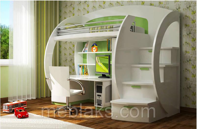 Двухъярусная кровать чердак ДМ 081