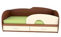 Детская кровать КЕТ 3 Орех лесной/шамони