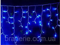Уличная светодиодная гирлянда бахрома 4м 120LED флеш ЧП Синий RD-7113, новогодняя, для декора