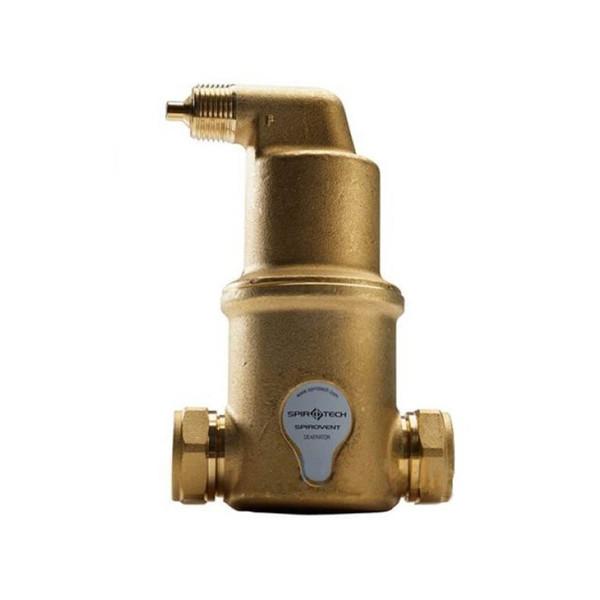 Сепаратор воздуха SpiroVent 1 1/4 горизонтальный